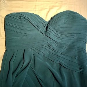 Modcloth Dresses - Modcloth emerald strapless dress